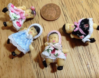 Dolls house dressed acrylic baby doll toy 4 to choose from 1/12 scale