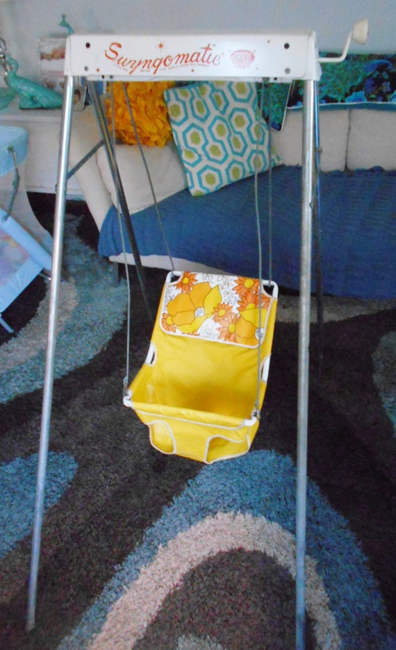 Reserved Sold Vintage Crank Baby Swing Swyngomatic By