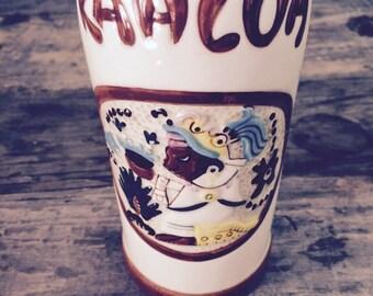 Vintage 1937 Hand Painted Kahlua Bottle