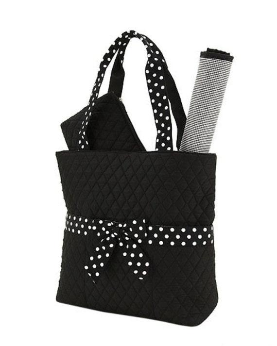 monogram diaper bag quilted black diaper bag 3 pc. Black Bedroom Furniture Sets. Home Design Ideas
