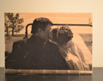 5 x 7 Wood Photo Block, Photo Block, Picture on Wood, Photo Transfer, Wood Photo Block, Wood Picture Frame, Picture Frame