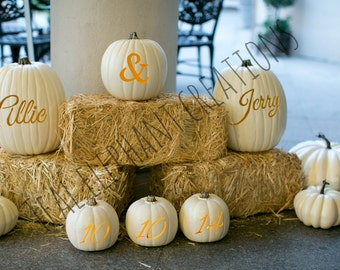 Custom Wedding Pumpkins