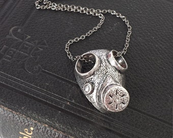 Gothic Gas Mask necklace