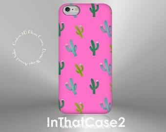 1263 // iPhone 6 Case iPhone 6 Plus Case iPhone 5 Case iPhone5sCase Samsung GalaxyS5case GalaxyS6case, custom case, summer, cactus, hot pink