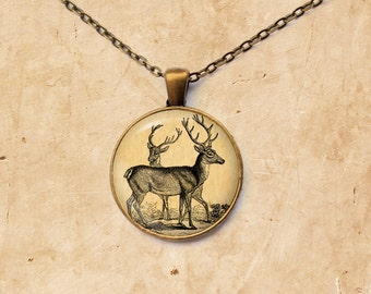 Animal jewelry Stag necklace Deer pendant