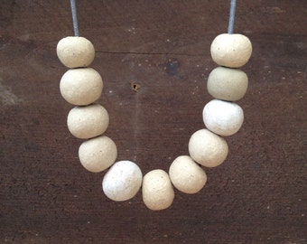 Handcrafted ceramic bead neckace