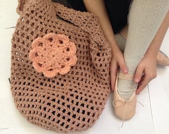 Crochet market bag, tan market bag, crochet bag, handmade bag, farmers market tote bag