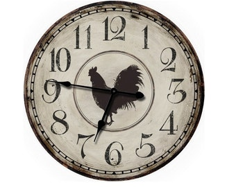 Country Decor Rooster Wall Clock