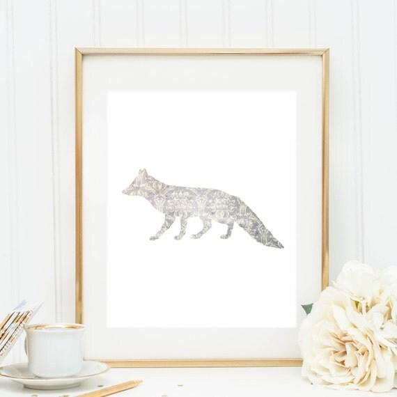 Fox Print Fox Artwork Home Decor Printable By