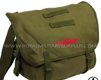 Backpack & Messenger Bag - Paratrooper Logo Vintage - OD Green (Olive Drab)