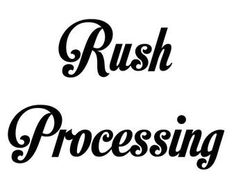 Rush Processing for Single Item Orders