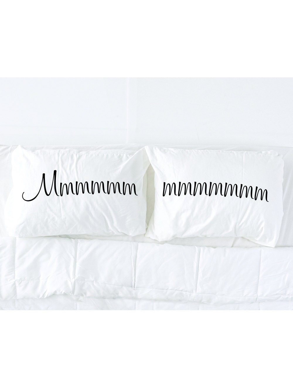 his and hers pillowcases mmmmm imprinted pillowcase set couples