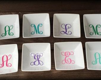 Personalized Monogram Ring Dish / Jewelry Dish / Jewelry Tray