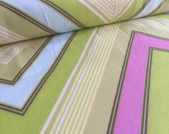 Zag Stripe Lime Heather Bailey Pop Garden Fabric