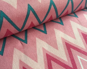 1.5+ yards Zig Zag Zoo PINK Jay McCarroll Garden Friends Fabric