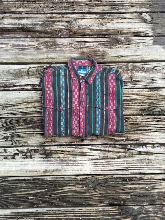 MENS WRANGLER Vintage Western Button Up