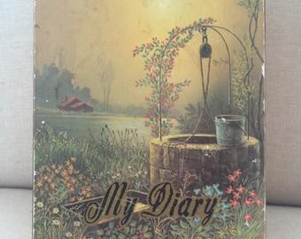 Vintage Diary Cedar Box