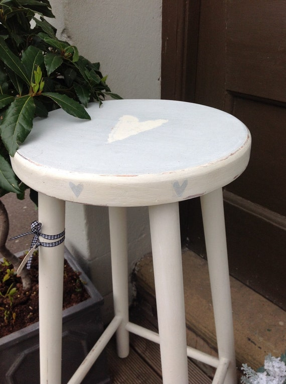 shabby chic kitchen stool by marmaladeno1 on etsy. Black Bedroom Furniture Sets. Home Design Ideas
