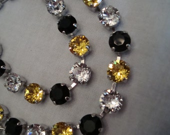 "Swarovski elements ""The Pittsburgher"" Crystal Necklace/earring set"
