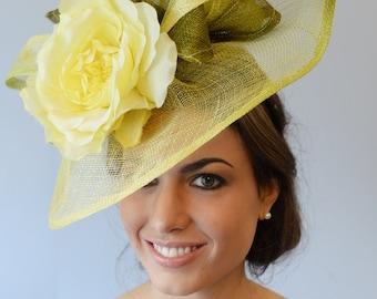 Wedding headpiece with silk rose