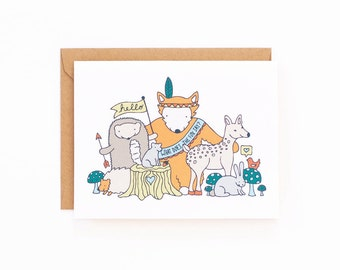 Woodland Animal Friends Greeting Card