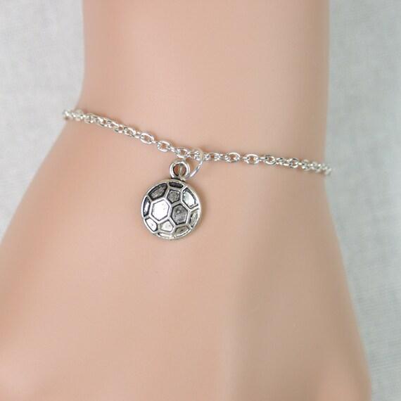 soccer bracelet antique silver soccer charm team