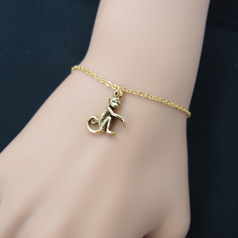 monkey bracelet gold filled gold monkey charm bracelet