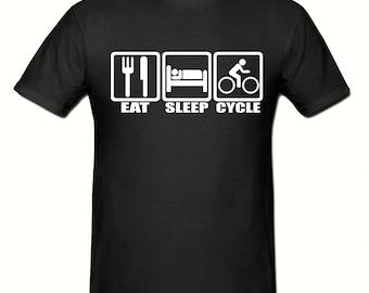 Eat Sleep Cycle t shirt,mens t shirt sizes small- 2xl,men,s cycling t shirt