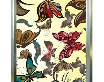 Fawn butterfly design 1oz gold tobacco tin,pill box,storage tin