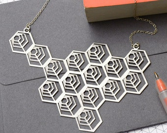 Large Geometric Necklace