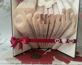 Book folding art pattern for Family