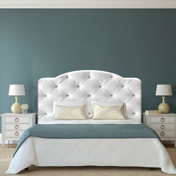 White Cushion Headboard Decal Clearance 50 Off C49