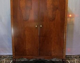 Restored 1930's Wardrobe Armoire