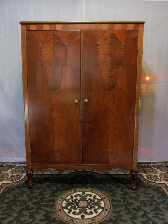 Restored 1930's Wardrobe Armoire