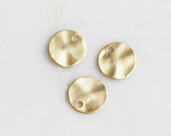 P0-333-M-MG] Round Disk / 11mm / Matt Gold plated / Pendant / 6 piece(s)