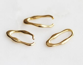 S4-203-G] 7 x 15mm / Gold plated / Cloud Jumping / 4 piece(s)