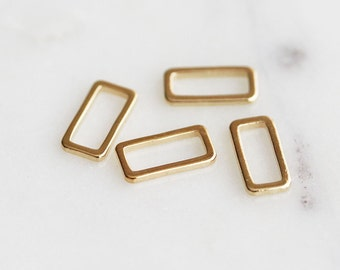K7-015-3-G] Rectangle / 5 x 10mm / Gold plated / Link / 10 piece(s)