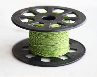 40% off ENTIRE STORE // T9-285-LG] Metallic Lime Green / 0.5mm / Jewelry String Cord / 5 yard(s)