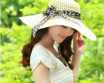 Wide Brim Floppy Straw Sun Hat Beach hat