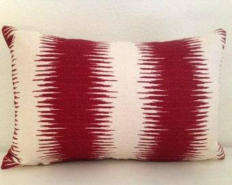 Red/Creme Boho Striped Bark Cloth