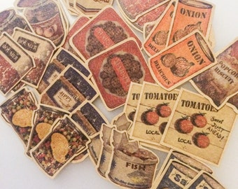 Flake Stickers - Old Fashioned Food Packaging