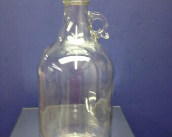 1 New 64oz. 1/2 Gallon Glass Jug Beer Wine Moonshine Home Brew White Lightening Crock