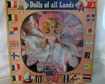 1950's Dolls of all Lands French Doll in Original Box
