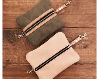 Leather / canvas organizer