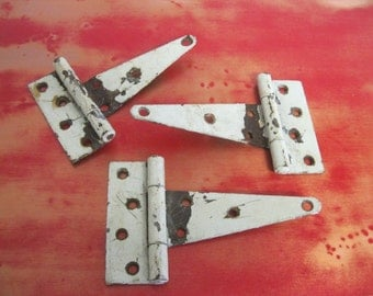 Reclaimed Strapping Hinges / Old Hardware / Old Hinges