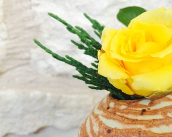 Hand Carved Ceramic Vase | inspired by nature Neutral | Colors Flower Vase