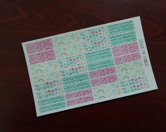 WASHI // Watercolor Red Green (W04)