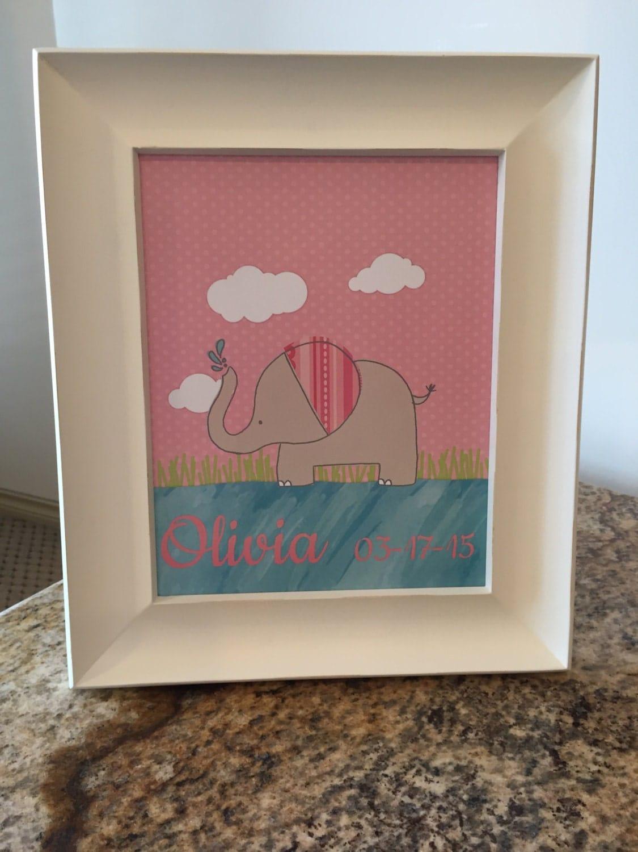 Personalized kids room decor nursery decor baby gift paper for Personalized kids room decor