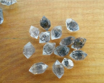 Herkimer diamonds, carbon included  crystals AA+