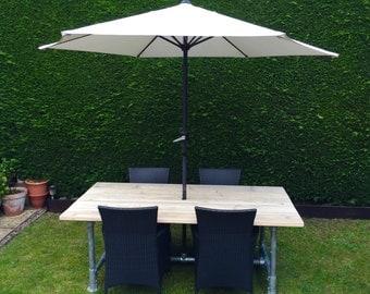 Reclaimed Scaffold board Garden Plank Top Table 2m x 1m (7x3)